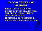illegal tricks and methods