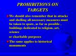 prohibitions on targets9