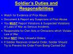 soldier s duties and responsibilities