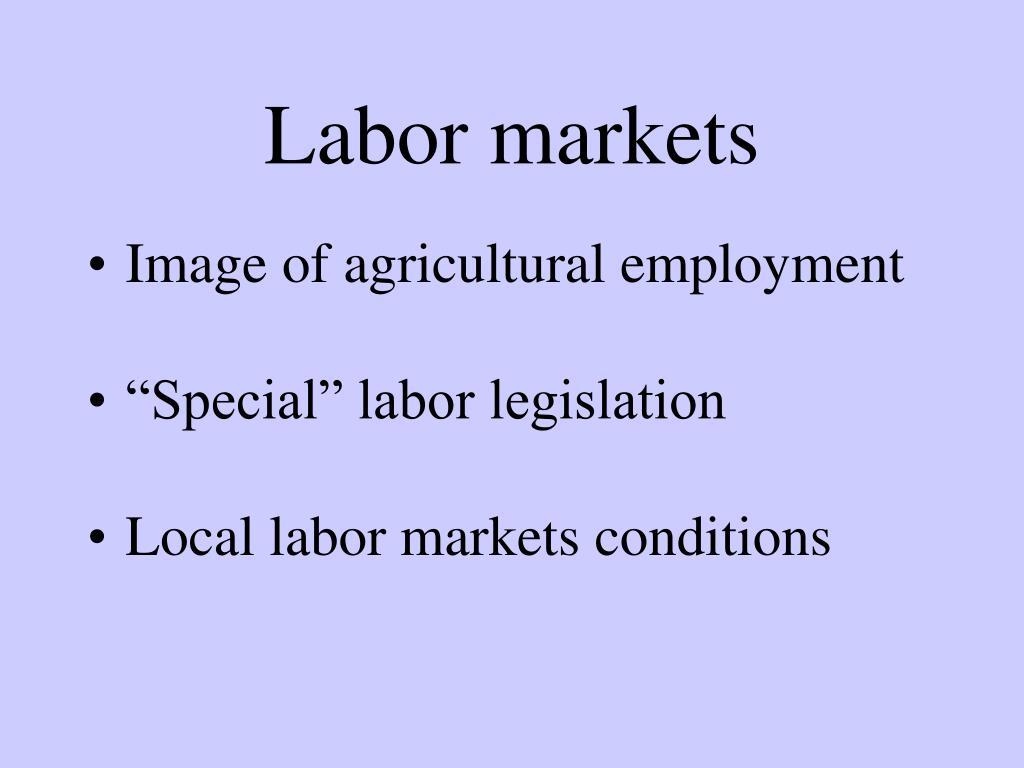 Labor markets
