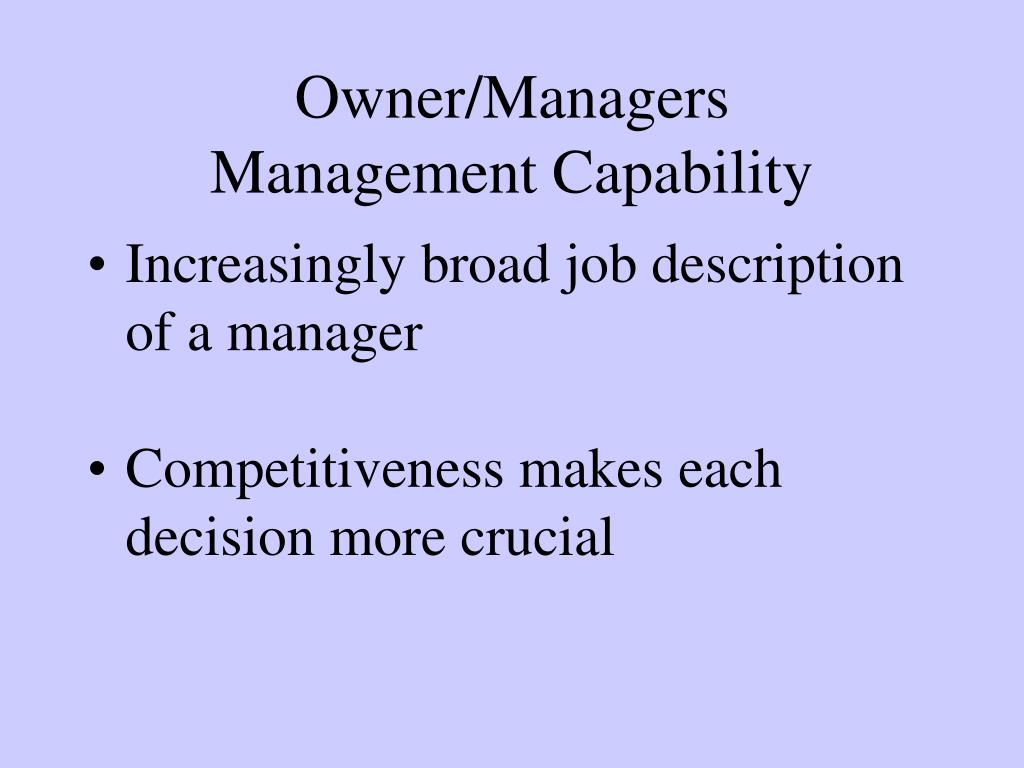 Owner/Managers