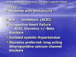 antihypertensive medications indicated in specific patient population
