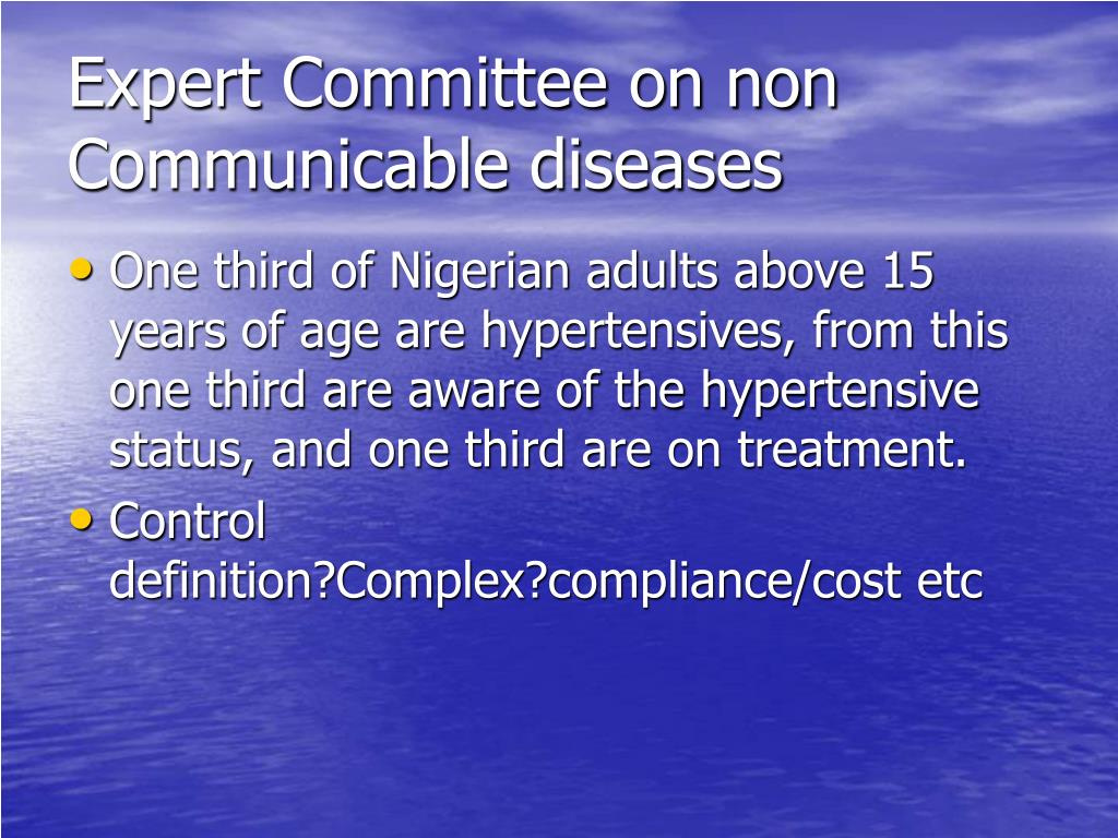 Expert Committee on non Communicable diseases