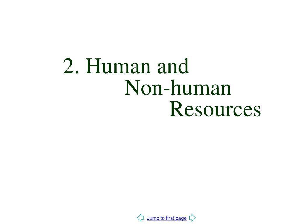 2. Human and
