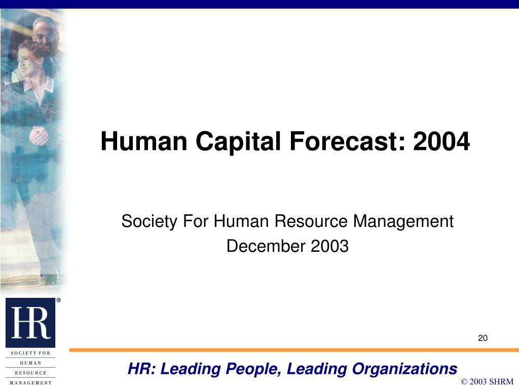 HR: Leading People, Leading Organizations
