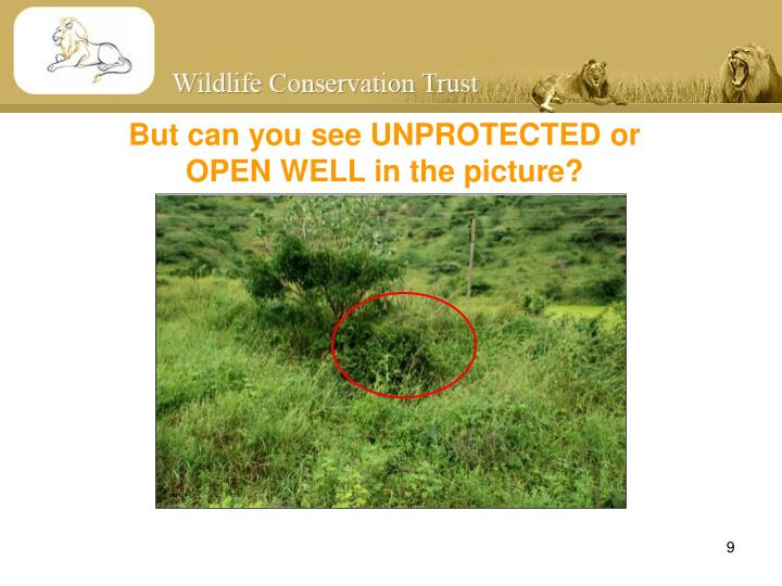 But can you see UNPROTECTED or