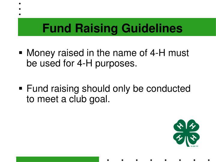 Fund Raising Guidelines