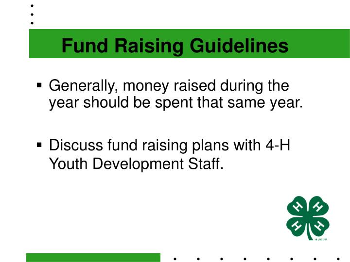 Fund Raising Guidelines