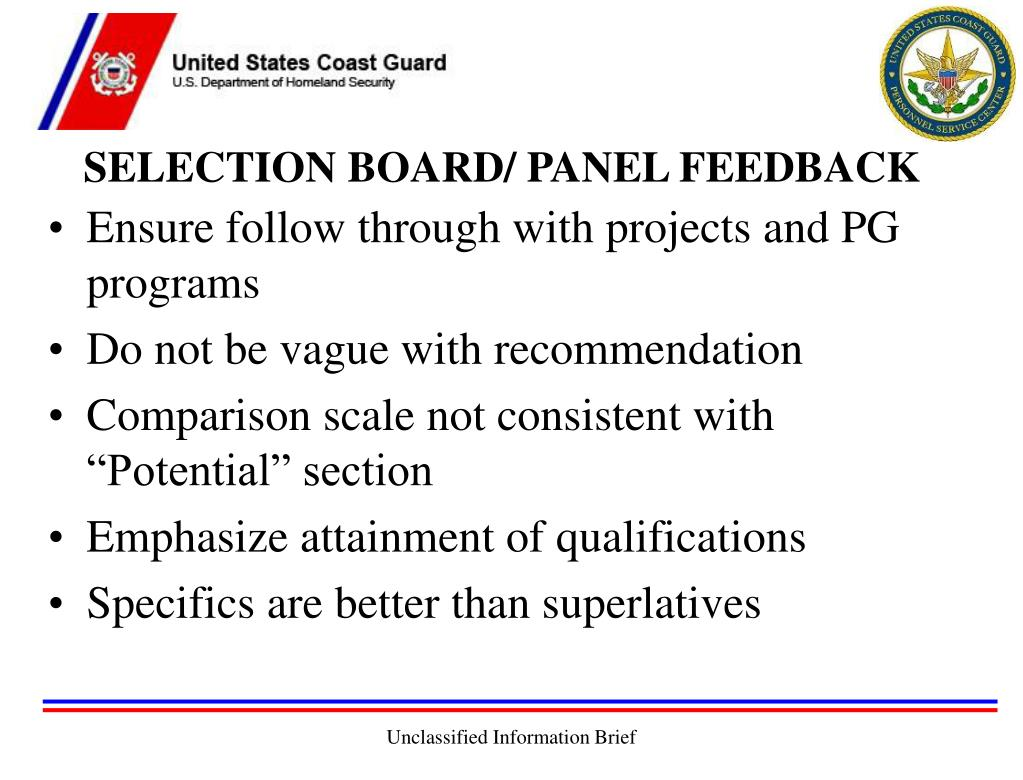 SELECTION BOARD/ PANEL FEEDBACK