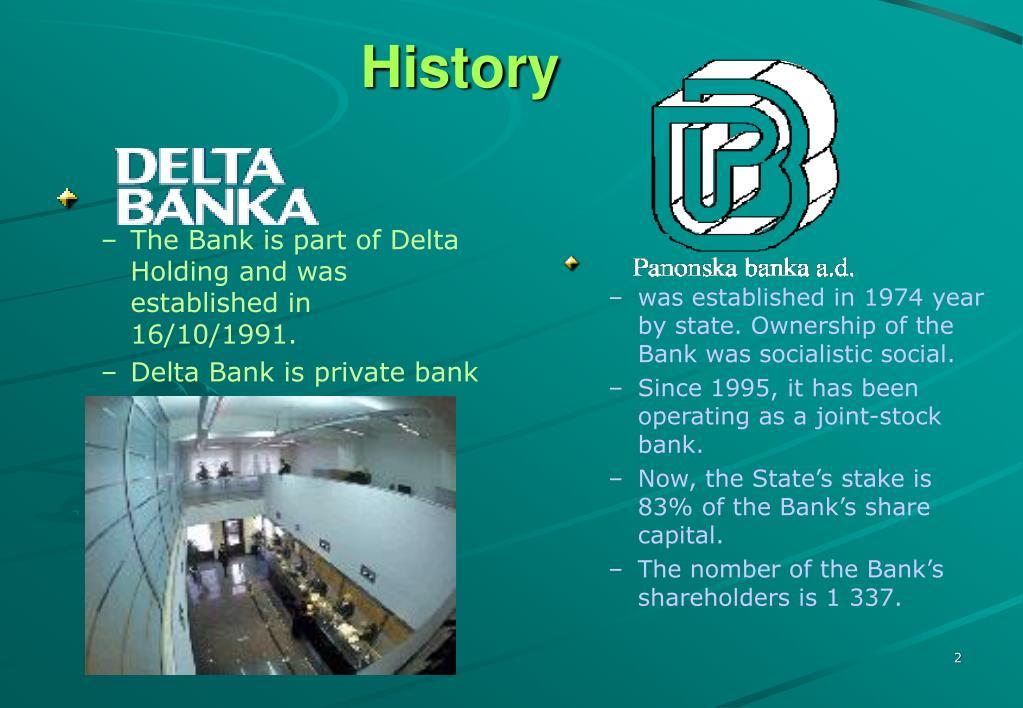The Bank is part of Delta Holding and was established in 16/10/1991.
