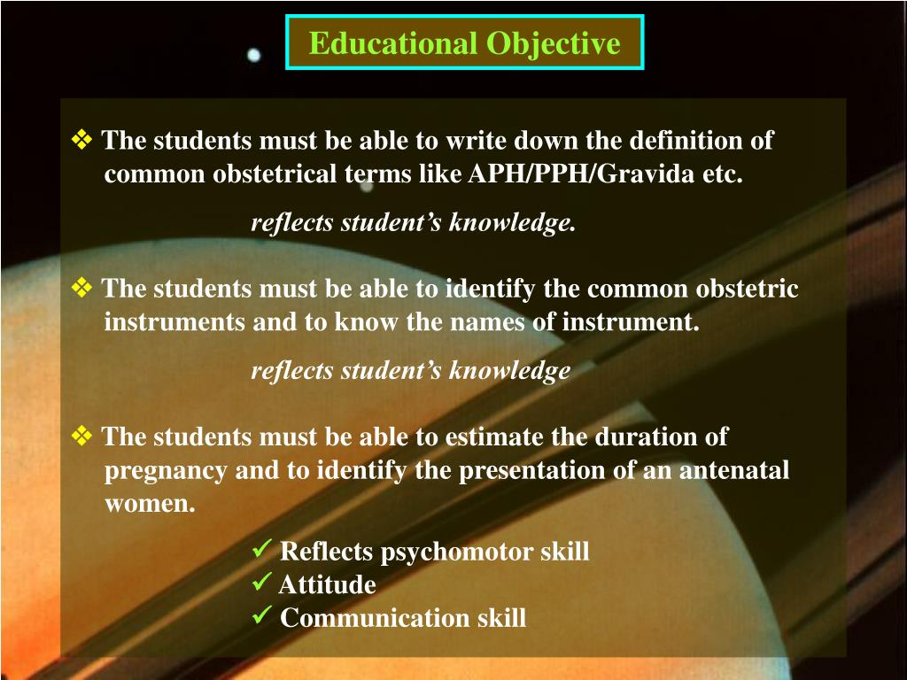 Educational Objective