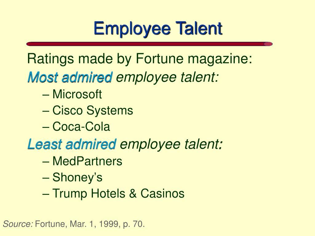 Employee Talent