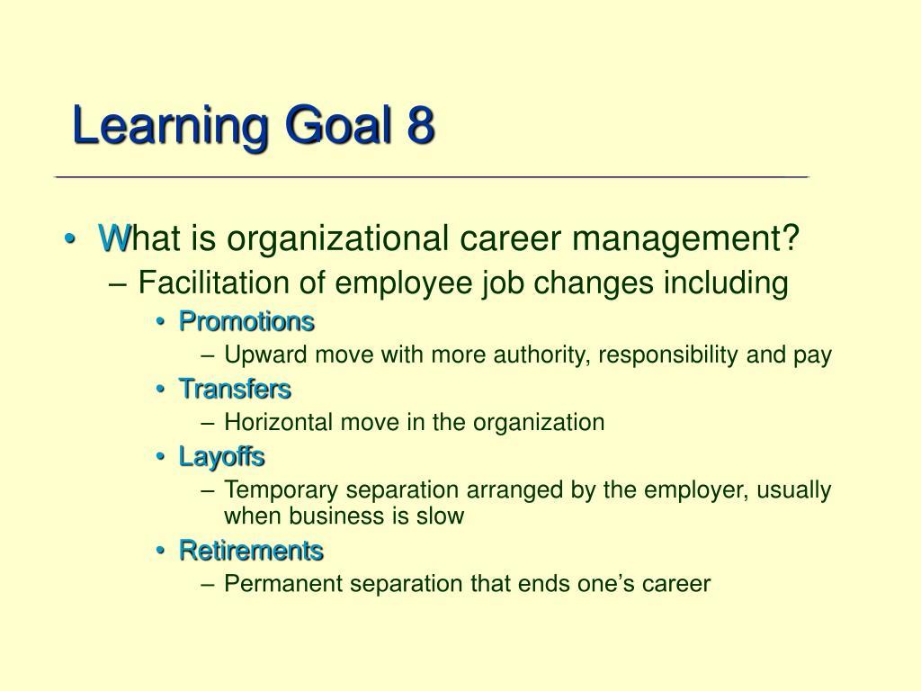 Learning Goal 8