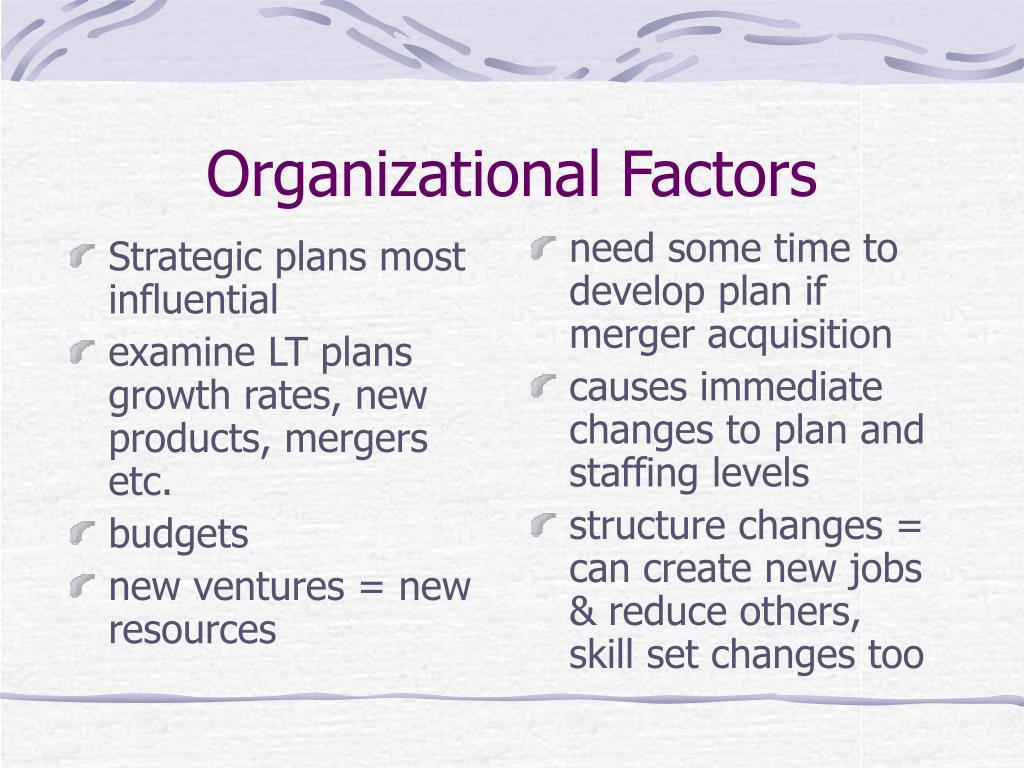 Strategic plans most influential