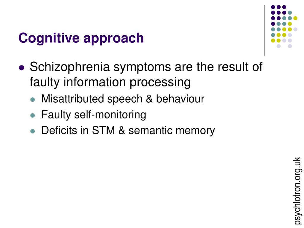 Cognitive approach