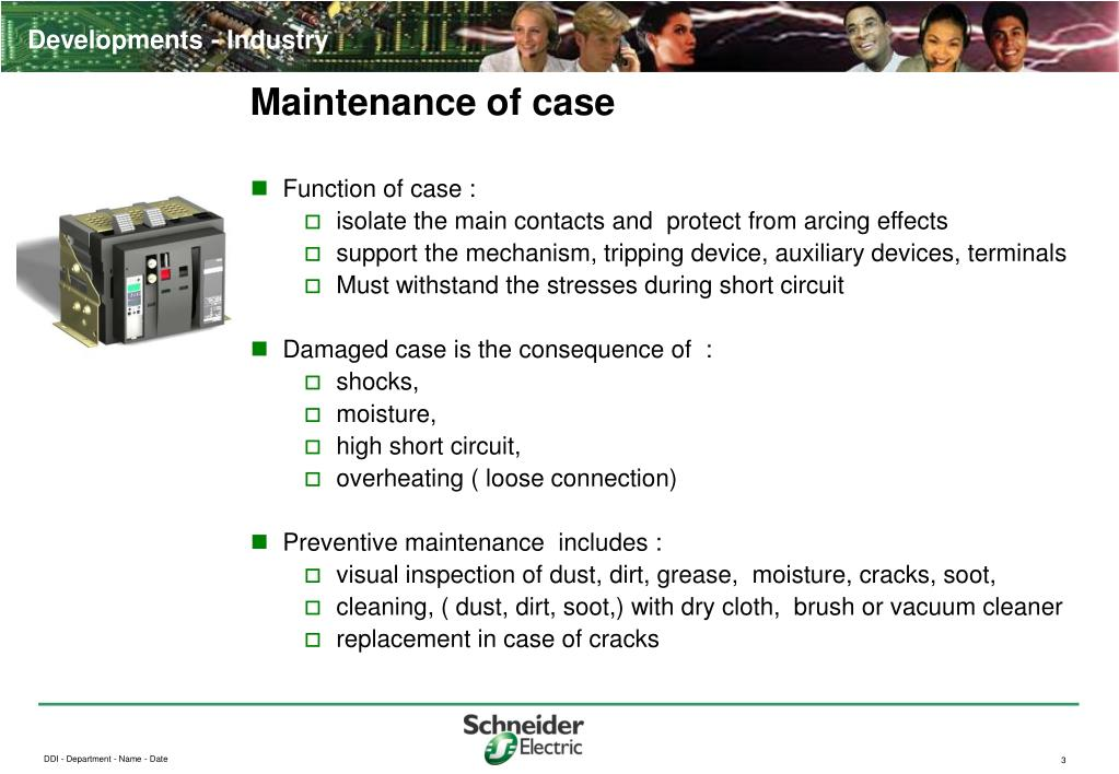 Maintenance of case