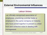 external environmental influences17