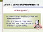external environmental influences22