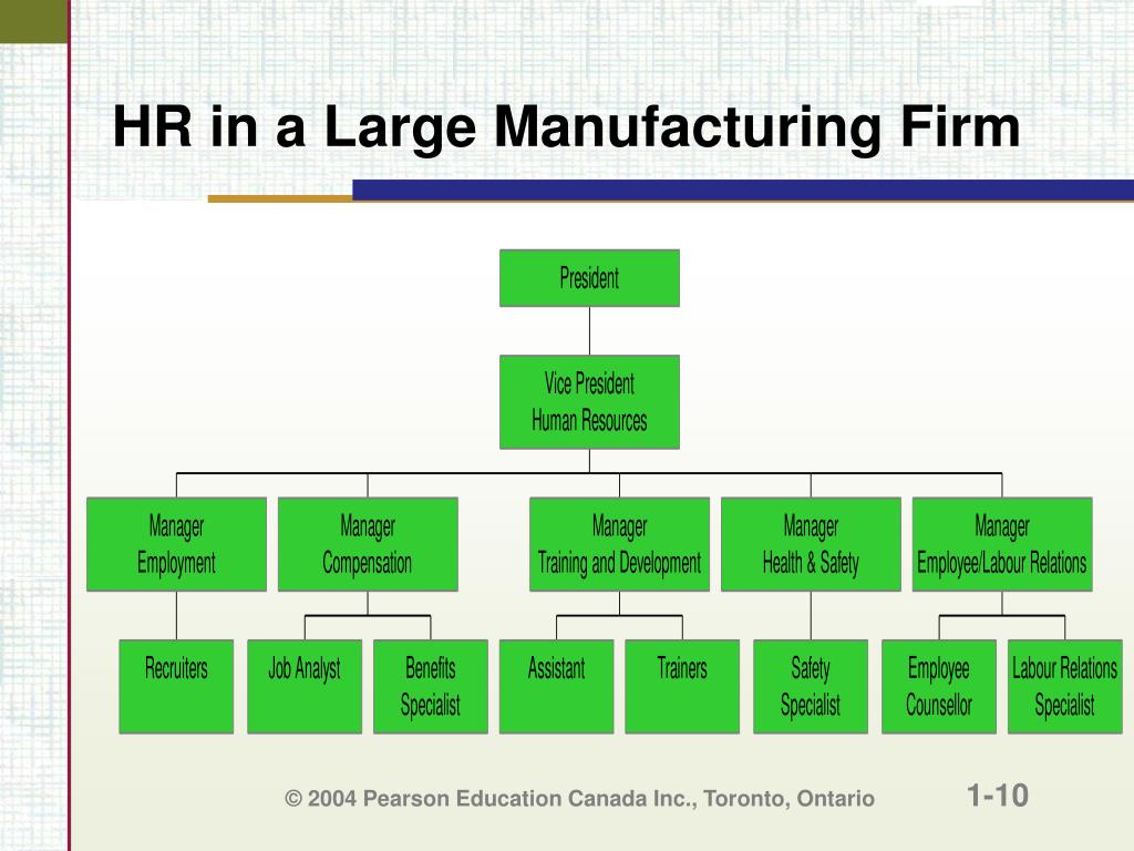 HR in a Large Manufacturing Firm