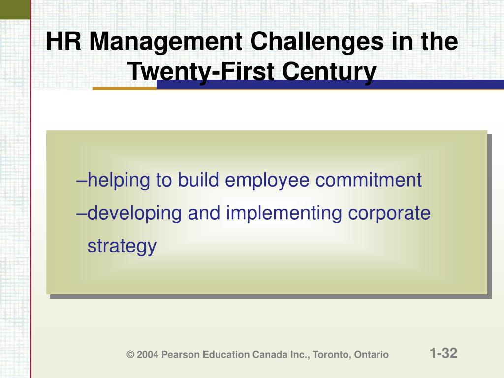 HR Management Challenges in the Twenty-First Century