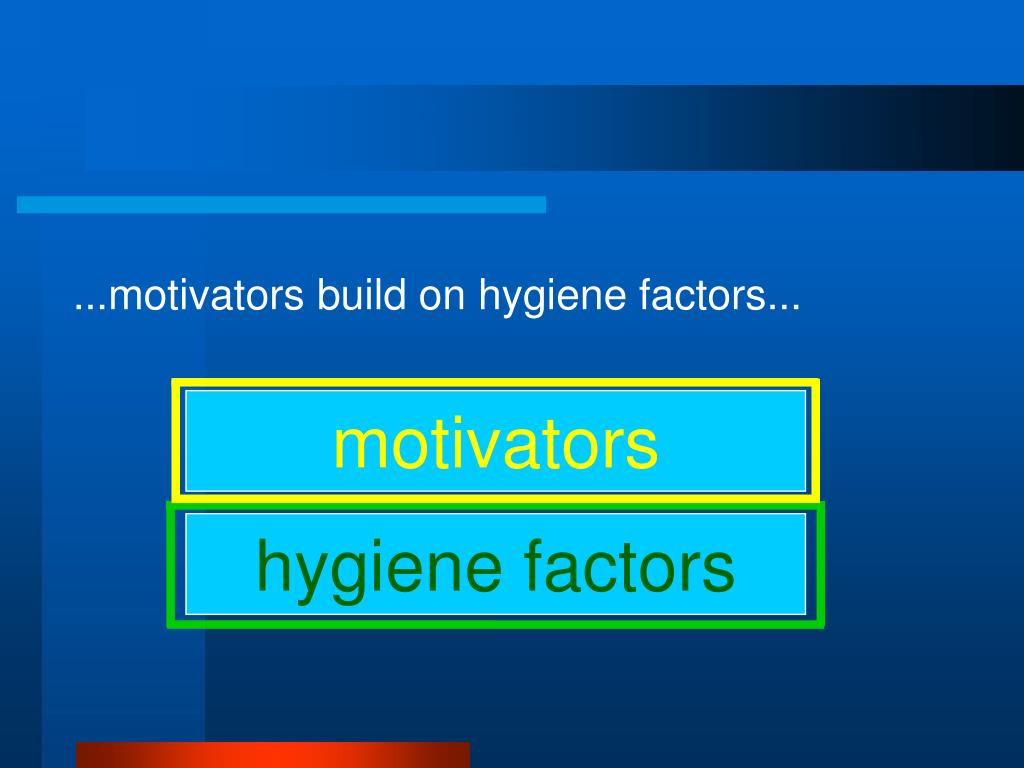 ...motivators build on hygiene factors...