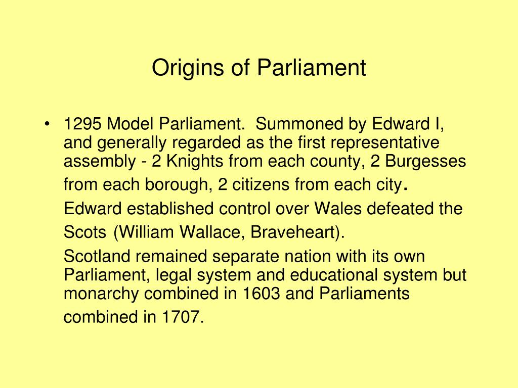 Origins of Parliament