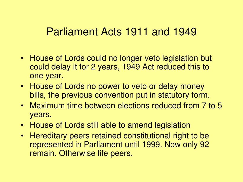 Parliament Acts 1911 and 1949