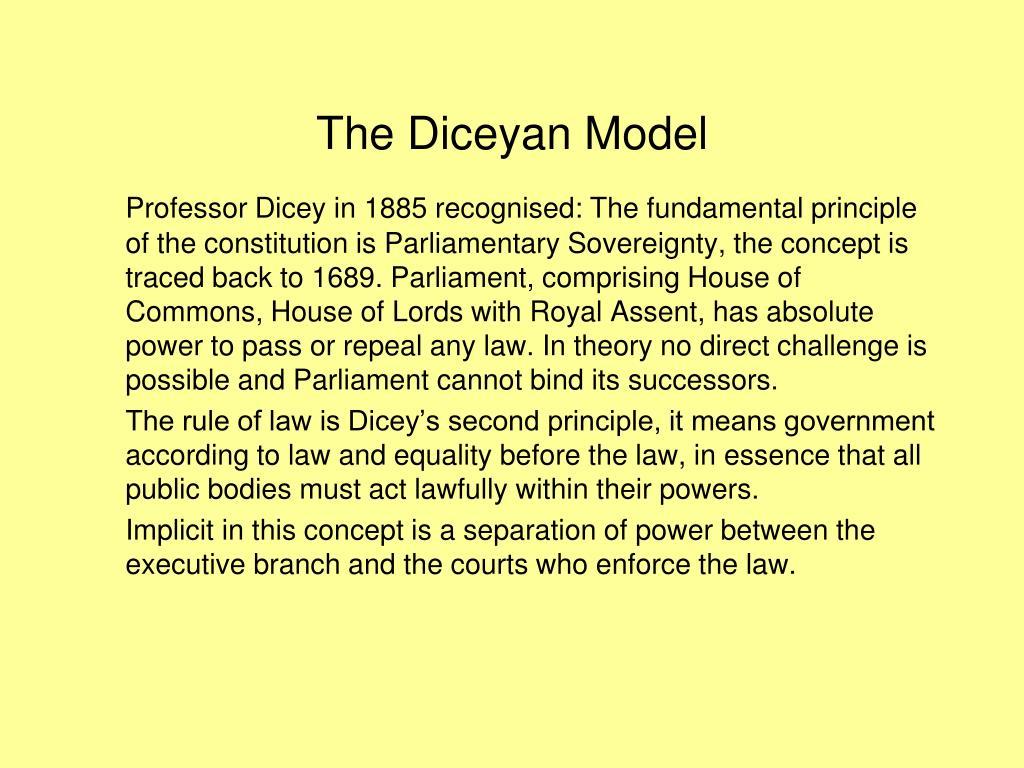 The Diceyan Model