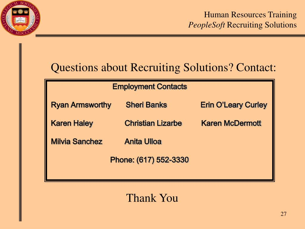 Questions about Recruiting Solutions? Contact: