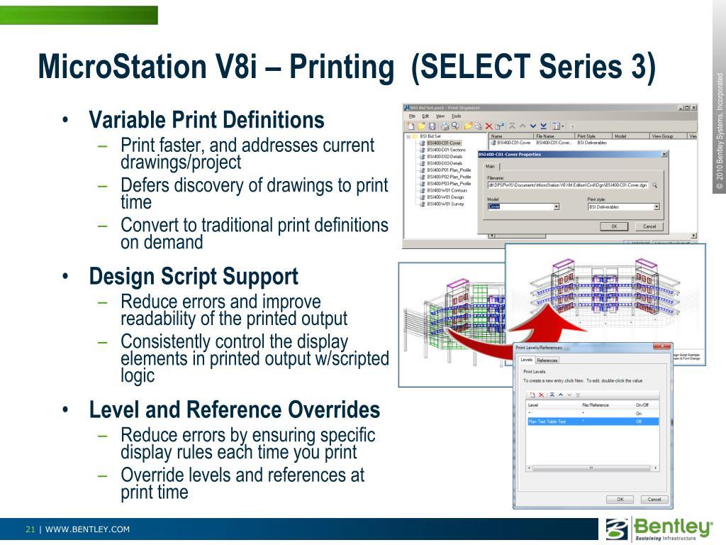 MicroStation V8i – Printing  (SELECT Series 3