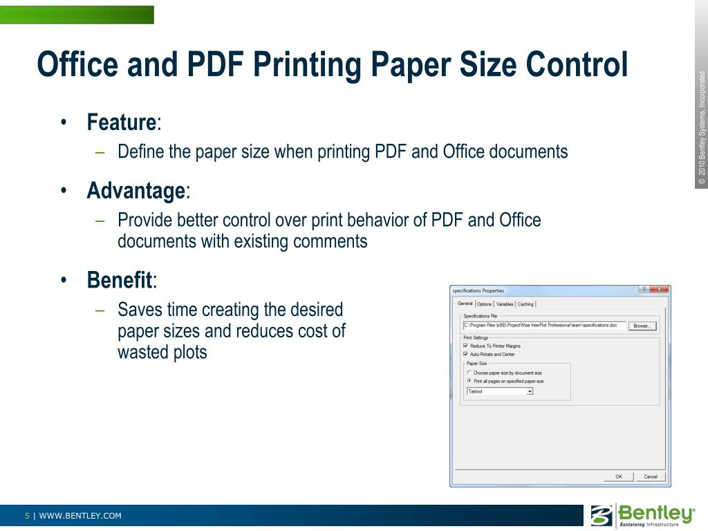 Office and PDF Printing Paper Size Control
