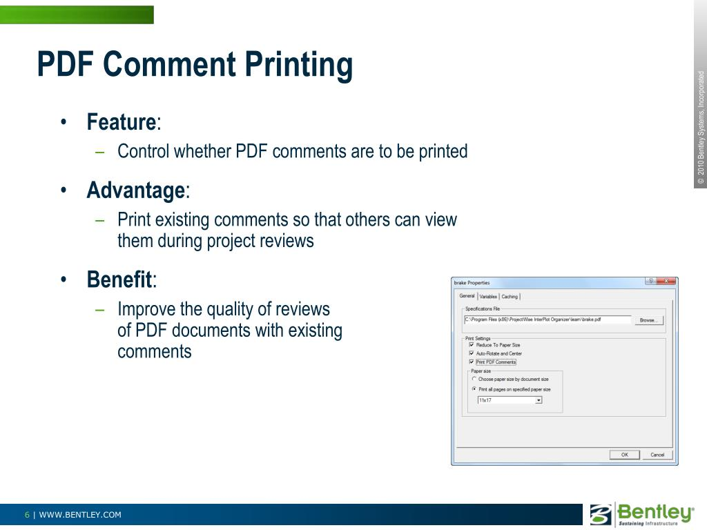 PDF Comment Printing