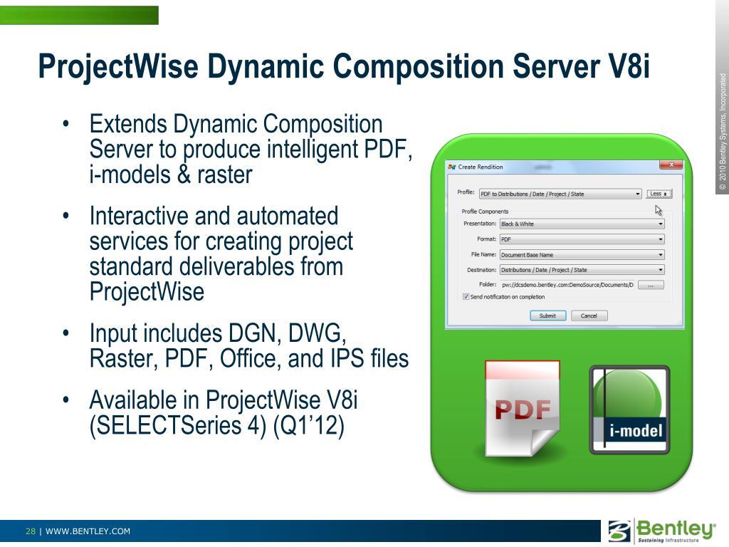 ProjectWise Dynamic Composition Server V8i