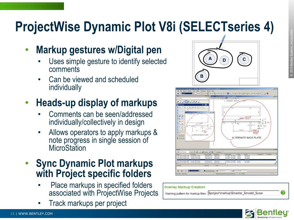 ProjectWise Dynamic Plot V8i (