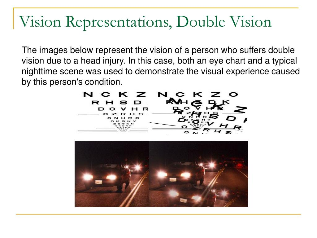 Vision Representations, Double Vision