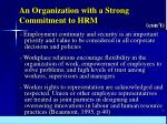 an organization with a strong commitment to hrm51
