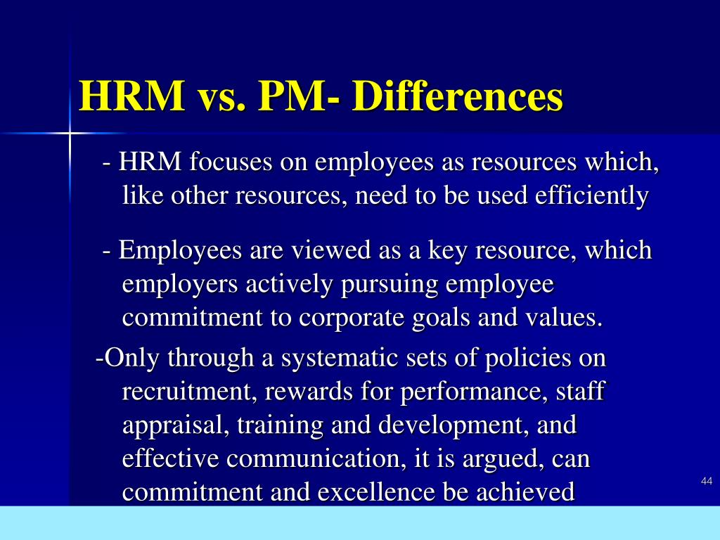 HRM vs. PM- Differences