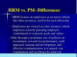 hrm vs pm differences