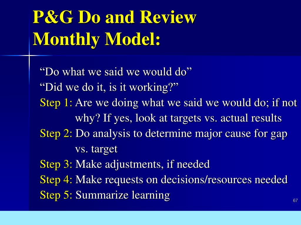 P&G Do and Review