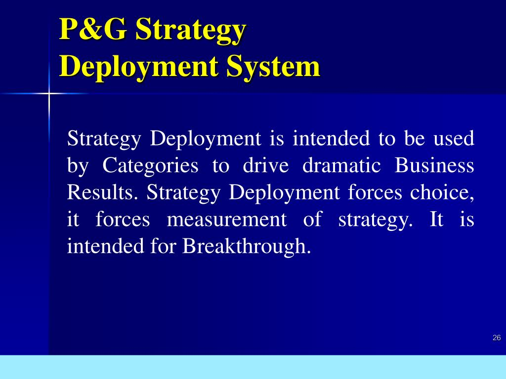 P&G Strategy