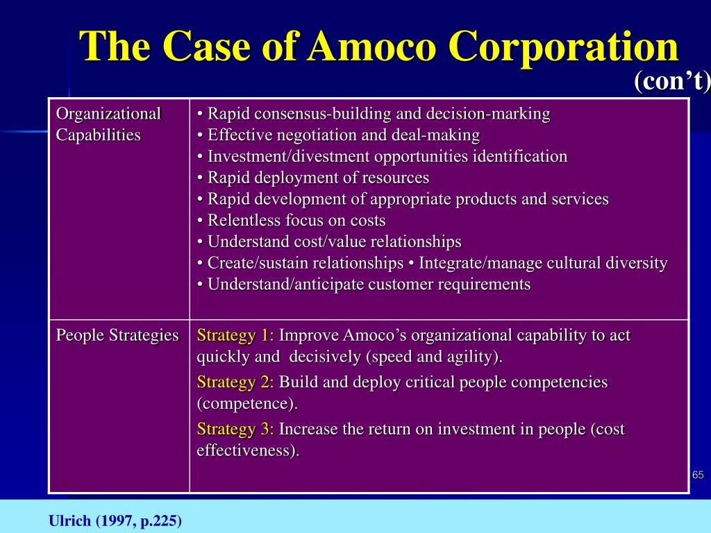 The Case of Amoco Corporation