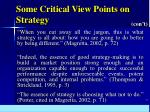 some critical view points on strategy12