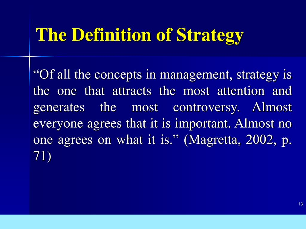 The Definition of Strategy
