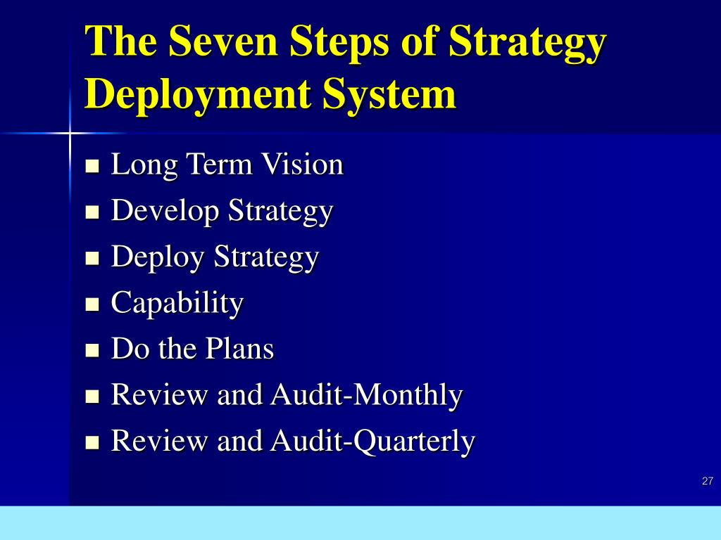 The Seven Steps of Strategy