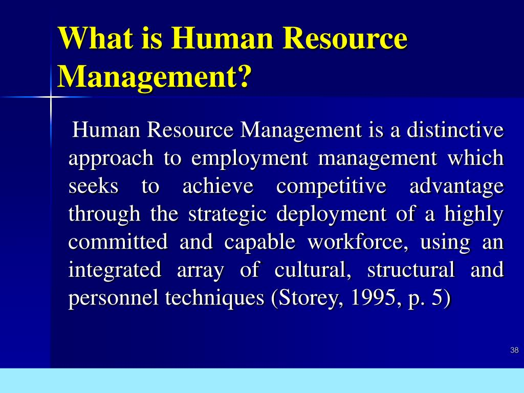 What is Human Resource Management?
