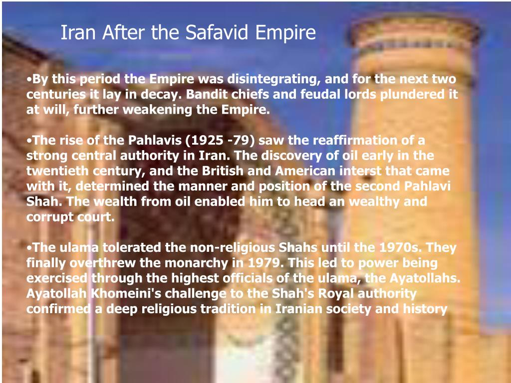 Iran After the Safavid Empire