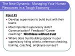 the new dynamic managing your human resources in a tough economy11