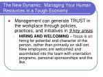 the new dynamic managing your human resources in a tough economy12