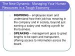 the new dynamic managing your human resources in a tough economy13
