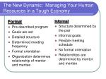 the new dynamic managing your human resources in a tough economy19